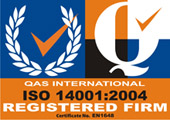QAS logo ISO 14001-2004 approved