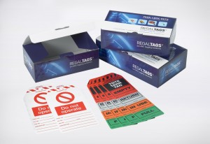 Regal Tags, Durable Tagging Solutions, Product packaging in full colour process, litho-laminated e-flute corrugated, supplied flat to the Production line, easy to make up